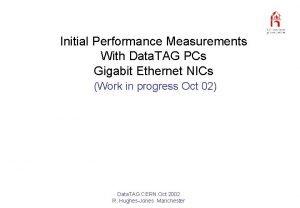 Initial Performance Measurements With Data TAG PCs Gigabit