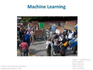 Machine Learning Photo CMU Machine Learning Department protests
