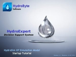 1 Hydro Byte Software ST Hydro Expert Version