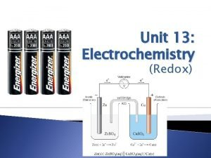 Unit 13 Electrochemistry Redox Oxidation Number State identifies