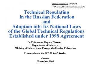 Informal document No WP 29 140 14 140