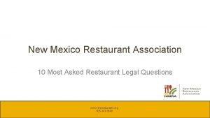 New Mexico Restaurant Association 10 Most Asked Restaurant