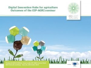 Digital Innovation Hubs for agriculture Outcomes of the