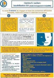 Centre E Leclerc Sensibilisation S 3 A Accueil