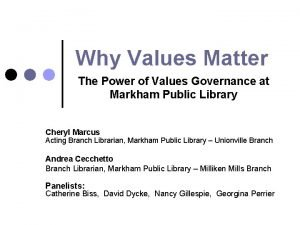 Why Values Matter The Power of Values Governance