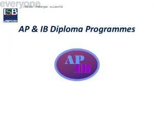 AP IB Diploma Programmes The Advanced Placement Program