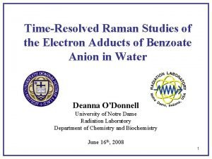 TimeResolved Raman Studies of the Electron Adducts of