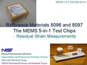 MEMS 5 in1 RM Slide Set 4 Reference