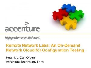 Remote Network Labs An OnDemand Network Cloud for