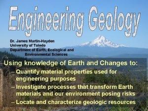Dr James MartinHayden University of Toledo Department of