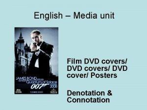 English Media unit Film DVD covers DVD cover