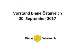 Vorstand Biene sterreich 20 September 2017 Bienengesundheit 1