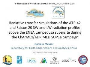 4 International Workshop Ch Ar MEx Trieste 20