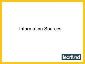 Information Sources Tearfund Country Profiles Information Sources Adaptation