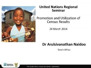 United Nations Regional Seminar Promotion and Utilization of