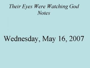 Their Eyes Were Watching God Notes Wednesday May