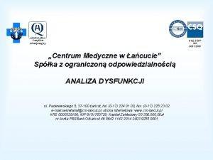 Certyfikat Akredytacyjny 9122 ZESP ISO 9001 2000 Centrum