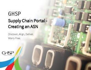 Supply Chain Portal Creating an ASN 2 GHSP
