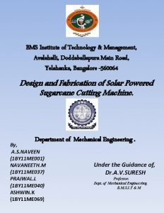 BMS Institute of Technology Management Avalahalli Doddaballapura Main