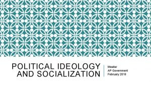 POLITICAL IDEOLOGY AND SOCIALIZATION Moeller AP Government February