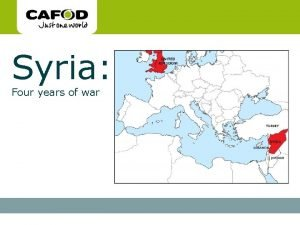 www cafod org uk Syria Four years of