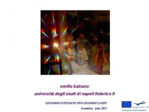 emilio balzano universit degli studi di napoli federico