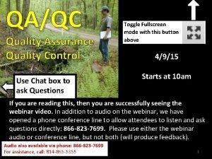 QAQC Quality Assurance Quality Control Use Chat box