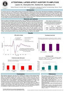 ATTENTIONAL LAPSES AFFECT AUDITORY P 2 AMPLITUDE Lazarev