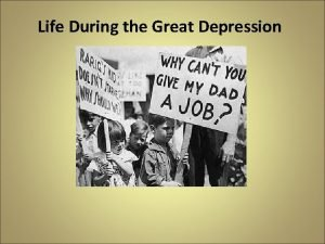 Life During the Great Depression Brother Can You