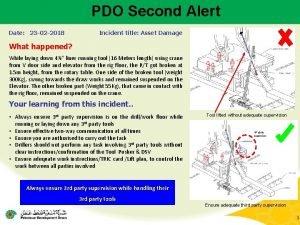 PDO Second Alert Date 23 02 2018 Incident