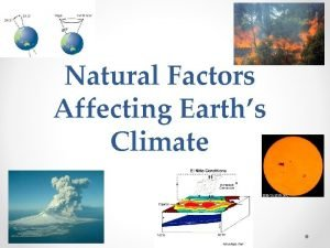 Natural Factors Affecting Earths Climate Natural Events Affecting