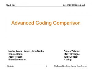 March 2005 doc IEEE 802 11 050146 r