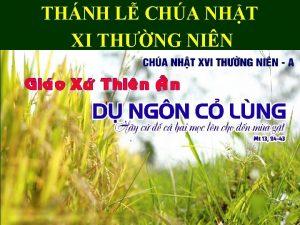 THNH L CHA NHT XI THNG NIN CHA