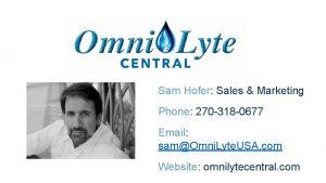 Sam Hofer Sales Marketing Phone 270 318 0677