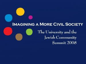 CIVIL SOCIETY CIVIL SOCIETY many struggle some dream