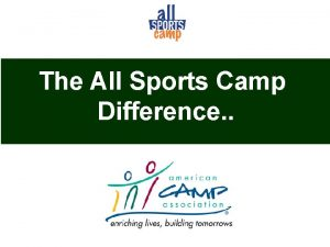 The All Sports Camp Difference All Sports Camp