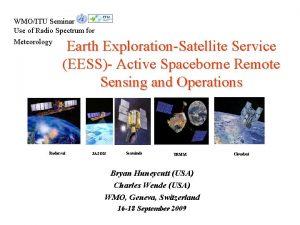 WMOITU Seminar Use of Radio Spectrum for Meteorology