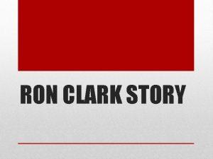 RON CLARK STORY The Ron Clark Story es