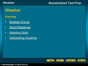 Weather Preview Multiple Choice Short Response Reading Skills