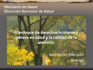 Ministerio de Salud Direccin Servicios de Salud El