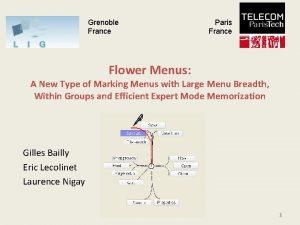 Grenoble France Paris France Flower Menus A New