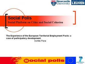 Social Polis Social Platform on Cities and Social