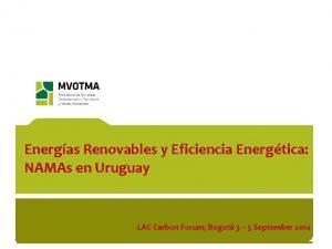 Energas Renovables y Eficiencia Energtica NAMAs en Uruguay