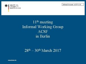 Informal Document ACSF11 01 11 th meeting Informal