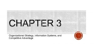 Organizational Strategy Information Systems and Competitive Advantage Differentiation