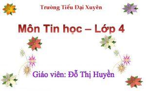 Trng Tiu i Xuyn KIM TRA BI C