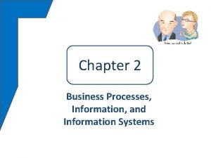 Chapter 22 Business Processes Information and Information Systems