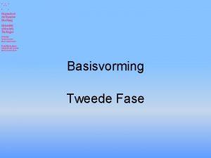Basisvorming Tweede Fase Opzet informatieavond Profiel en vakkenkeuze