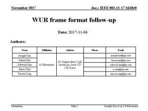 November 2017 doc IEEE 802 11 171638 r