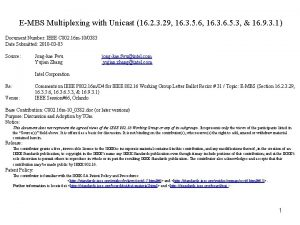 EMBS Multiplexing with Unicast 16 2 3 29